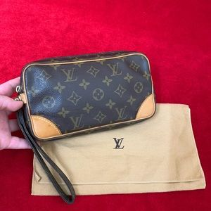 Authentic Louis Vuitton marly dragonne pm wristlet